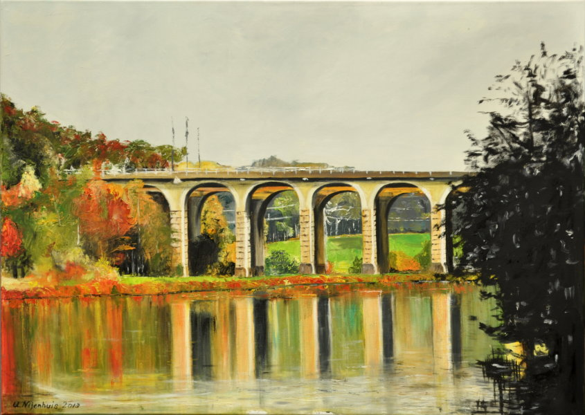 Viadukt am Obersee, Gemälde